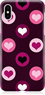 Loud Universe Case for iPhone XS Wrap around Edges Valentines Day Couples Love Pink Heart Pattern Sleek Design Heavy Duty ...