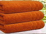 Casabella - Juego de 3 toallas de baño, algodón egipcio de 550g/m², tamaño...