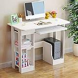 KANGMOON Modern Computer Desk Gaming Desk Laptop Children Study Writing Table with 2 Storage Shelves/Keyboard Tray/Main Unit Holder/1 Drawer Desktop Desk for Home Office, Gamer Workstation
