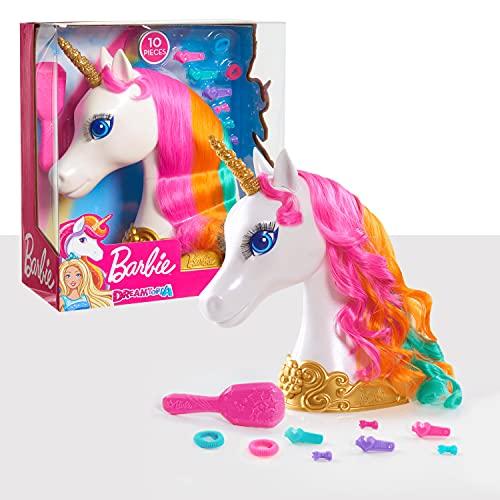 JP Barbie 62861 Barbie Dreamtopia - Cabeza de Unicornio, Multicolor