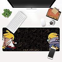 クリエイティブピカチュウパターンダイニングテーブルマットナルトクリエイティブ要素特大マウスパッド厚いシームノンスリップデスクマット洗える小さなマウスパッド (A10,900*400*2mm)