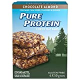 Pure Protein Chewy Oat Bars, Gluten Free, Snacks Bars, Chocolate Almond, 50 gram
