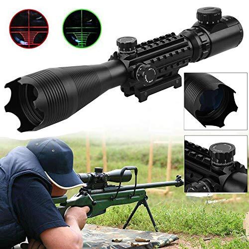 Froadp Zielfernrohr Rot & Grün Punkt Visier Luftgewehr Zielfernrohr Gewehr-Bereich mit Montage für Jagd und Sport(4-16x50EG, 22mm Montagen)