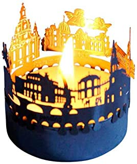 13gramm Dresden-Skyline Windlicht Schattenspiel Souvenir, 3D