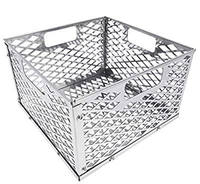 Broilmann Charcoal Firebox Basket for Oklahoma Joe's Highland Bandera Longhorn. Fits Most Offset Smoker Grill, Stainless Steel, 12 x 12 x 7.5 Inches