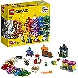 LEGO-Classic Les fenêtres créatives Jeu Créatif avec des Briques et des Éléments Colorés pour Fille et Garçon 4 Ans et Plus, Jouet de Construction, 450 Pièces 11004