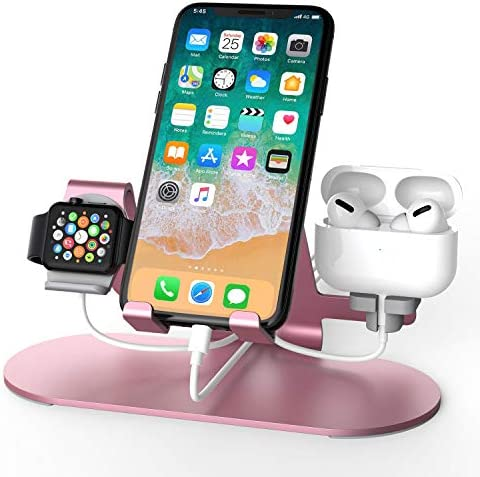 3 in 1 Aluminum Charging Station for Apple Watch Charger Stand Dock for iWatch Series 4 3 2 product image