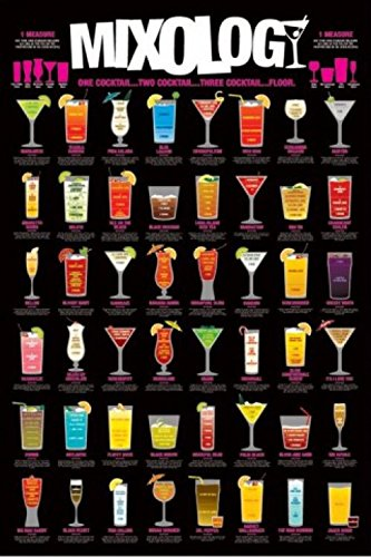 1art1 Cocktails - Mixology, In Englisch Poster 91 x 61 cm