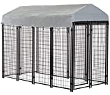 BestPet Heavy Duty Dog Cage –Outdoor Pet Playpen – This Pet Cage is Perfect for Containing Small Dogs and Animals. Included is a Roof and Water-Resistant Cover