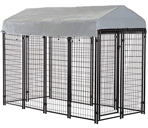 BestPet Dog Crate Pet Kennel Cage Puppy Playpen Wire Animal Metal Camping Indoor Outdoor Cage