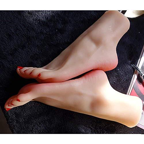 AFYH Silikon Füße Modell, Das schöne Fuß Modell simuliert EIN weiblichen Füße Replik Silikon Fuß Modell mit realistischen Touch und realer Vision.