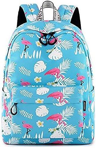 ShopSquare64 Rucksack für Damen und mädchen, Flamingo-Design, 35,6 cm, 39,6 cm