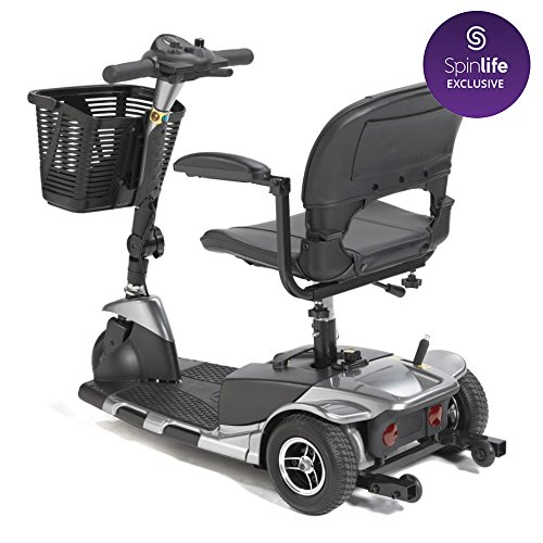 Drive Medical Spitfire SE 3-Wheel Travel Mobility Scooter (Grey)