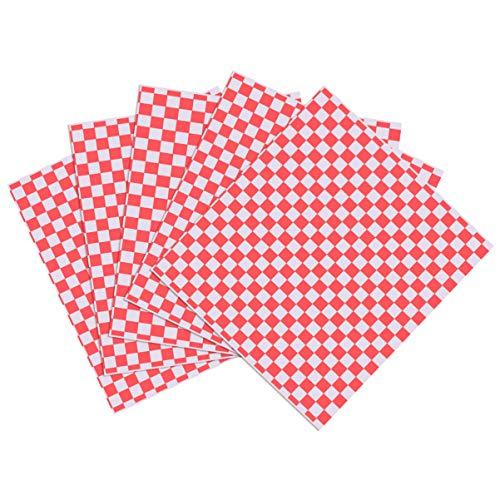 Cabilock 100 Stück Quadratisches Papier für Sandwich Deli, Papierhülle, lebensmittelecht, für Hamburger Cibo Picnic