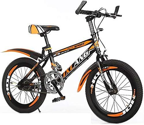 Kinderfürr r Single Speed fürrad Junge mädchen fürrad schüler Mountainbike rennrad (Farbe   Orange, Größe   18inches)