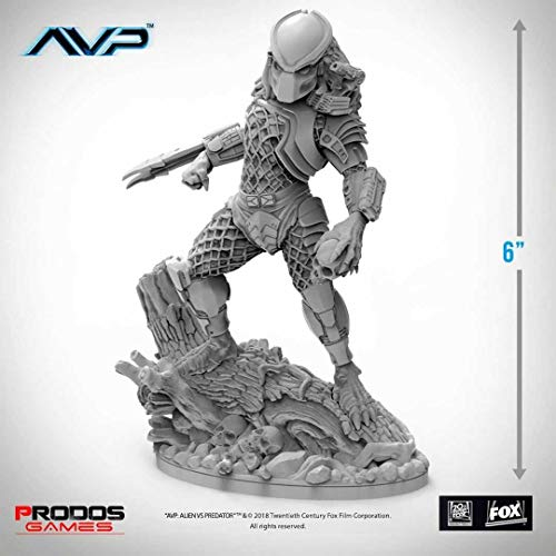 Prodos Games AvP The Hunt Begins Tabletop Game Statue Predator Jungle Hunter