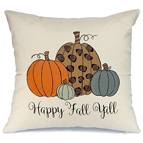 AENEY - Funda de almohada de 18 x 18 cm para decoración de otoño, decoración de otoño, funda de cojín decorativa para sofá, sofá, decoración de otoño, 2021bz18