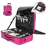 Travel Makeup Case, Luxspire Multilayer Cosmetic Makeup Train Case Portable Makeup Bag Large