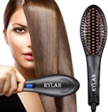 RYLAN Hair Electric Comb Brush 3 in 1 Ceramic Fast Hair Straightener For