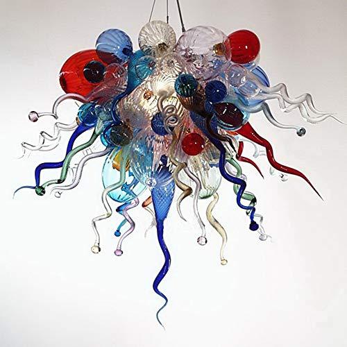 SHIJING 100% Mond Geblazen Borosilicaat Murano Glas Multi kleuren Kroonluchter Lamp Art Woonkamer Hand Geblazen Glas Kroonluchter