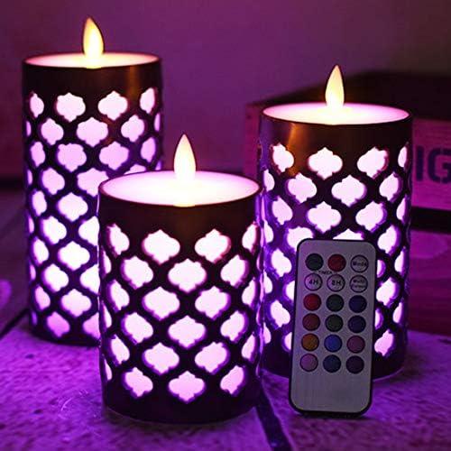 XuetongXT Max 90% OFF Alternative Grid Pillar Elegant Led Candle Wax Dancing Fr with