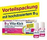 [page_title]-tetesept B12 Vita-Kick Trinkampullen – Ergänzungsmittel mit hochdosiertem Vitamin B12 & Eiweißbausteinen - Himbeergeschmack – 1 Packung à 18 Trinkfläschchen [Nahrungsergänzungsmittel]
