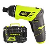 Cordless Screwdriver, DEWINNER Lithium ion Battery Drill Driver Set, Electric 3.6 V 1300