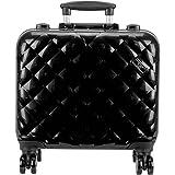 Ver belleza profesional de viaje 4-wheels maletín de estudio de maquillaje caso
