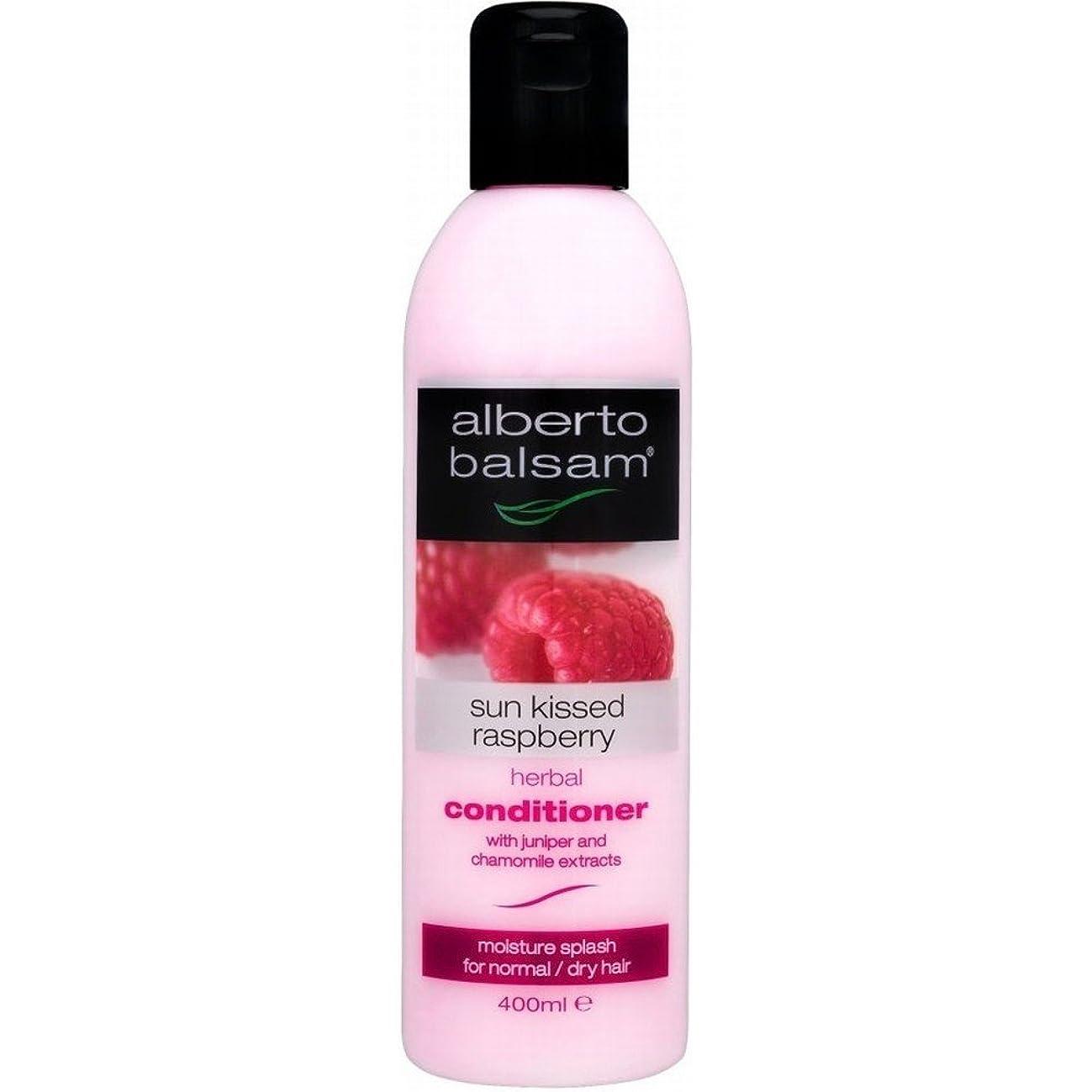 雷雨ペストリー縮約Alberto Balsam Herbal Conditioner - Sun Kissed Raspberry (400ml) アルベルトバルサムハーブコンディショナー - 太陽は( 400ミリリットル)ラズベリーキスをした [並行輸入品]