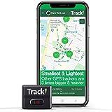 Tracki 2021 Modelo Mini Rastreador GPS en tiempo real. Cobertura completa de Estados Unidos y en todo el mundo. Para vehículos, coches, niños, ancianos, niños, perros y motocicletas. Dispositivo de seguimiento portátil pequeño magnético