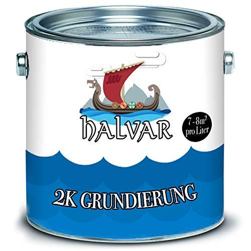 Halvar Scandinavische 2-K grondlaag mat met verharder in set grijs, zwart, wit, keuze uit kleuren 1 kg wit (Ral 9010)