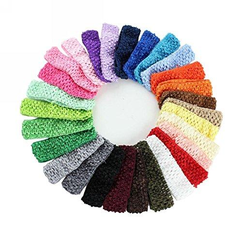 WINOMO 24pcs différentes couleurs bébé filles rubans élastiques