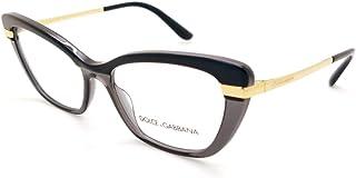 Dolce & Gabbana Occhiali da Vista HALF PRINT DG 3325 BLACK 54/17/140 donna