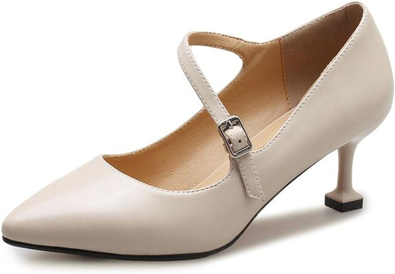 XUERUI Ms High Heels Stilettos Graduation Get Together Elegant Comfortable 6cm Heel (color   1, Size   EU36 UK3.5 CN35)