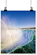 Artwork for Living Room Decorations Niagara Falls Landscape and Rainbow on Canvas Wall Art for Home,24