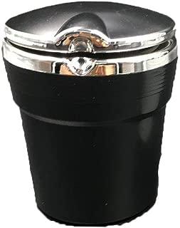 Garosa Zigarre Aschenbecher Auto Portable mit LED Licht Schwarz Orange Smokeless Zylinder Cup Holder Autozubeh/ör f/ür Home Tabletop Patio Sand Auto Outdoor Indoor Orange