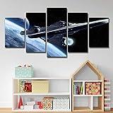lijuan store 5 Panneau Toile Moderne HD Imprimer Image Salon Chambre Décoration De La Maison Peinture 50 CM Star Trek Aviation Salle UFO Paysage