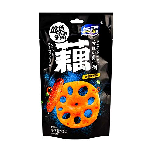 YUMEI Lotus Root Sweet and Sour Spicy Flavor 100g, Pack of 6