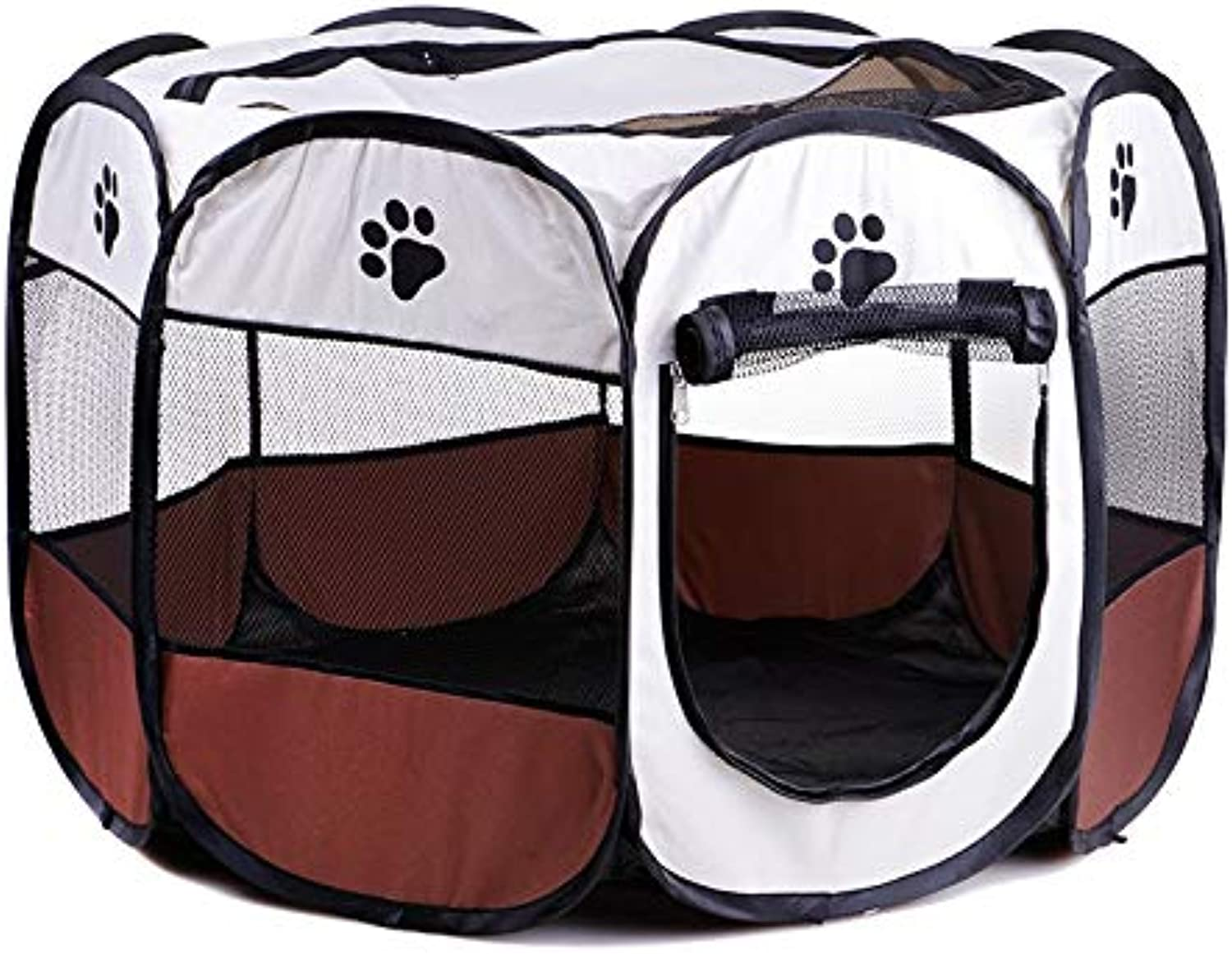 CARBE kennelDogs Portable Folding Pet Tent Dog House Cage Dog Tent Playpen Puppy Kennel Easy Operation Octagonal Fence Outdoor