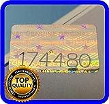 Set di 200 etichette adesive con numeri di serie e sigilli di garanzia, 16x 10mm