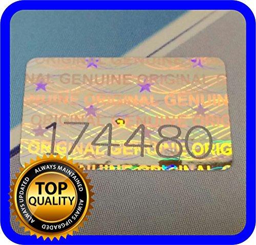 Etiquetas con holograma, 200 unidades, con números de serie, sello de garantía adhesivo 16x 10mm