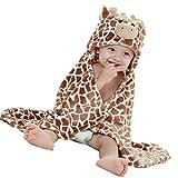 Hooded Toddler Blanket  Plush Soft Animal Baby or Infant Hoodie Blankie . 36x27 + Hood
