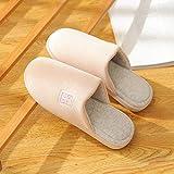 Flip Flop-GQ Zapatillas de algodón Cortas de Primera Calidad para el hogar, Suaves y cálidas Zapatillas de Deporte Bordadas Laterales Suela de Goma Antideslizante para Exteriores @ Color_44-45