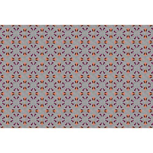 Premium Vliestapete XXL Fototapete moderne Mandalas Beton Tapete Grau Orange 4,00m x 2,70m
