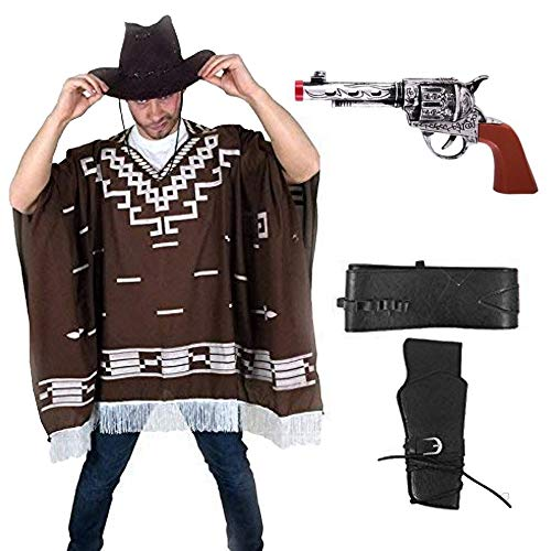 sowest Kostümpistole Western Wild West Cowboy Poncho für Clint Eastwood Nights