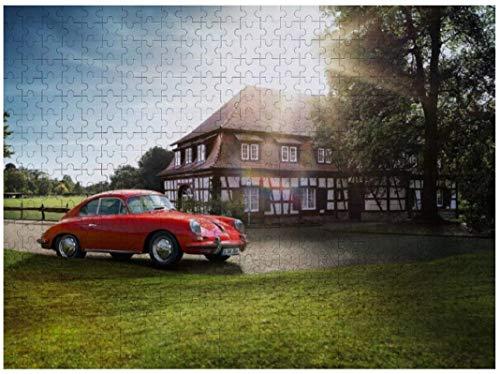 Rompecabezas de madera de 1000 piezas Porsche Classic 356 Rompecabezas Juego divertido Juguetes Regalos de cumpleaños (sin marco)