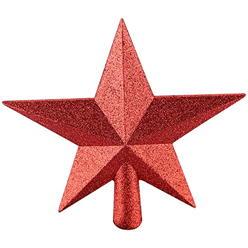 Estrella para el árbol de Navidad,Adorno de estrella de lentejuelas con purpurina,decoración de árbol de Navidad,para decoración de fiestas navideñas,decoración del hogar (rojo)