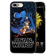 """Star Wars iPhone 7 Plus 5.5"""" Case, Onelee Star Wars, Han Solo, Death Star, Darth Vader Black TPU and PC Case for iPhone 7 Plus 5.5"""" [Scratch proof] [Drop Protection]"""