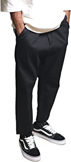 Men's Highwater Fit Stretch Twill Zipper Fly Drop Rise Chino Pants