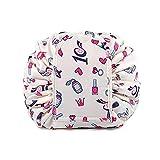 Bolso de lazo perezoso Gran capacidad Paquete de viaje portátil de maquillaje a prueba de agua rápido Bolsa de almacenamiento de maquillaje Perfecto para las mujeres niñas (Lápiz Labial)